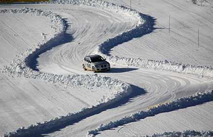Pista drift esse sulla neve
