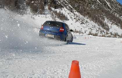 Warm up drift sulla neve